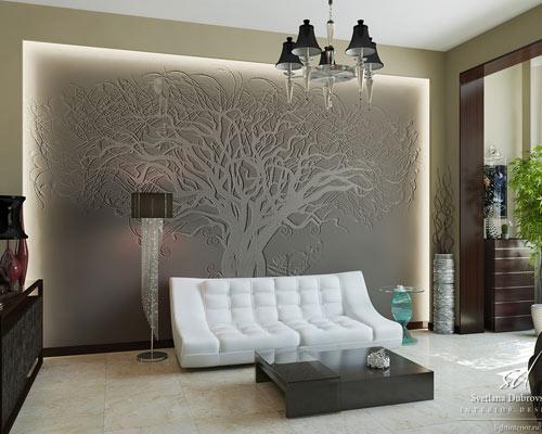 декоративная подсветка стен и фотообои для активного досуга
