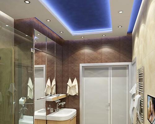 Дизайн из светодиодной ленты в комнате