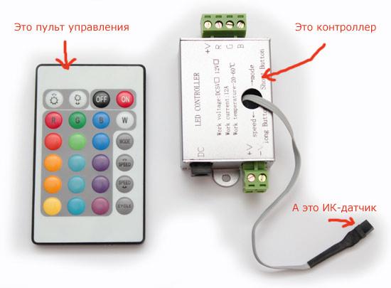 Инфракрасный датчик (ИК-датчик) улавливает сигналы, которые передает пульт управления и передает их контроллеру.